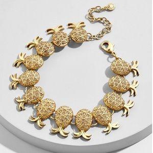 BMWT BaubleBar Gold Rhinestone Pineapple Bracelet